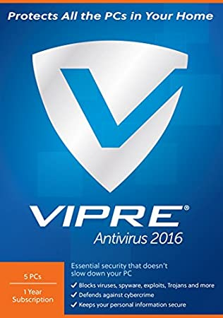 ThreatTrack Security VIPRE Antivirus 2016 (5-Users)