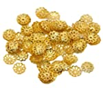 500 x Gold Plated 9mm Flower Bead End...