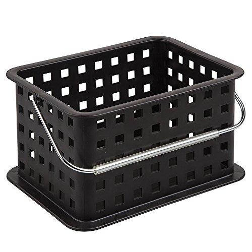 InterDesign Small Basket, Black Provides Basic Storage For Items