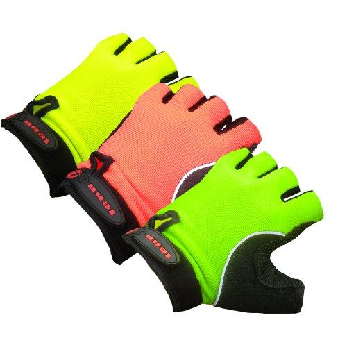 Buy Low Price Tenn Fingerless Cycling Gloves/Mitts – High Visibility (B006GQUFQQ)