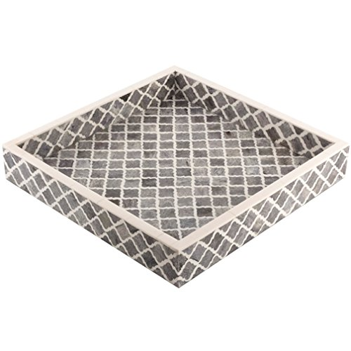 Eccolo Naturals Tray, 12 by 12-Inch, Moorish Gray