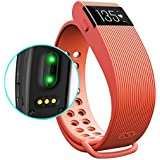 Eiison HR Fitness Tracker With Heart Rate Monitor Sleep Monitor Pedometer Waterproof Activity Fit Watch With Touch...