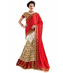 silvermoon women's net embroidered free size fancy saree-sm_NMGMA2102_red_free size