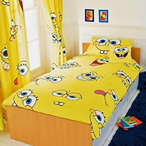 Spongebob squarepants rotary single duvet cover set for Spong kitchen set 702