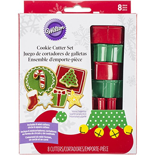 Wilton Industries 2308-8550 8-Piece Christmas Cookie Cutter Set