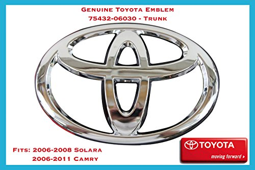 Toyota Trunk Emblem - 75432-06030 / Fits: 2006-2008 Solara, 2006-2011 Camry (Toyota Camry Emblem Front Grill compare prices)