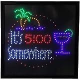 19x19 Large It's 5:00 Somewhere Motion LED Sign