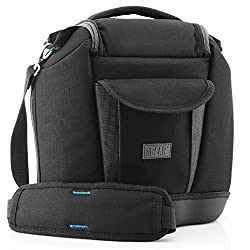 USA Gear Deluxe SLR Zoom Camera & Gear Holster Bag- Works with Canon EOS 70D, 100D, T5i / Nikon D7100, D5200, D3200 , D610 & Many More