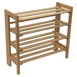 (One Piece ) Shoe Rack- Shoe Rack Foldbl Nat From Winsome Wood (Part Number 81228) by Winsome Wood