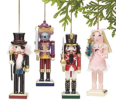 Nutcracker Ornaments Wood Handpainted Assorted Set Christmas Gift