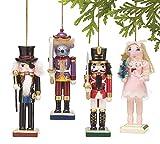 Nutcracker Ornaments Wood Handpainted Assorted Set Christmas Gift
