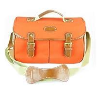 Vintage Canvas DSLR SLR Camera Shoulder Messenger Bags for Canon Nikon, Orange (S) by Crystalcity-6662
