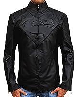 "Superhero ""S"" Style Jacket - Black Superman Jacket ►Best Seller◄"