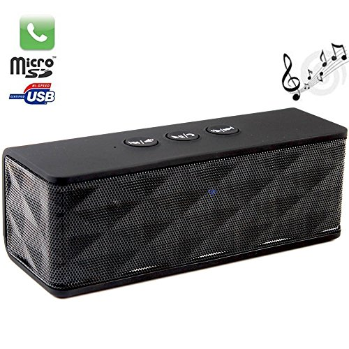 Boriyuan Ultra Portable Mini Cube Built-In Hands-Free Calls Rechargeable Battery Powerful Sound Wireless Bluetooth Stereo Speaker With 3.5Mm Standard Headphone Jack For Mobile Phones, Tablet Pcs, Laptop, Mp3 Player And All Other Bluetooth Enabled Digital