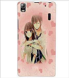 PrintDhaba Couple D-3706 Back Case Cover for LENOVO A7000 PLUS (Multi-Coloured)