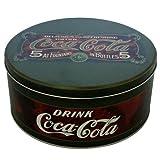 Vintage Coca Cola Round Cake Tin Biscuits Storage Retro Dark Green Classic Design