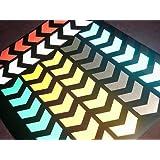 "MOGLO REFLECTIVE CHEVRON stickers (48"") * CHOICE OF 7 colours"