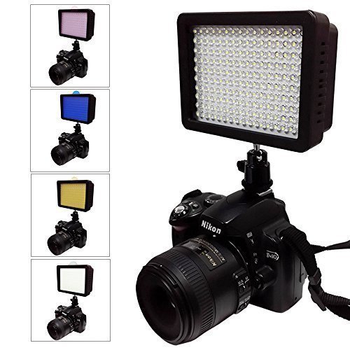 Julius Studio NEW 160 LED 160 Dimmable Ultra High Power Panel Digital Camera / Camcorder Video Light, LED Light for Canon, Nikon, Pentax, Panasonic,SONY, Samsung and Olympus Digital SLR Cameras JGG2161 (160 LED Camera Light)