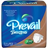 First Quality Prevail Breezers Adult Briefs-X-Large, Waist 59 inch to 64 inch, Beige,60/Case