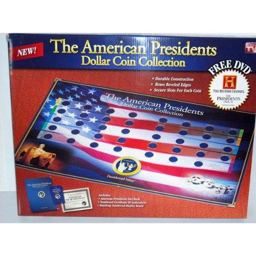 The American Presidents Dollar Coin Collection Book w/ Bonus DVD