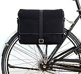 Fahrradtasche-TORONTO-der-Marke-Zimmer-aus-wasserabweisendem-Canvas-und-Leder-zum-Einhngen-an-den-Gepcktrger-schwarz-Umhngetasche
