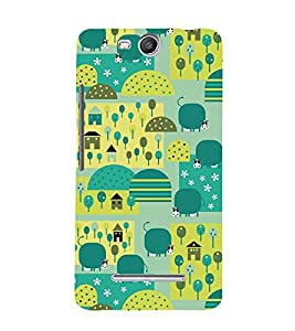 Signals City Corp 3D Hard Polycarbonate Designer Back Case Cover for Micromax Canvas Juice 3 Q392