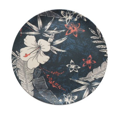 The Jay Companies Floral Round Dinner Plate (Set of 4), Blue (The Jay Companies compare prices)