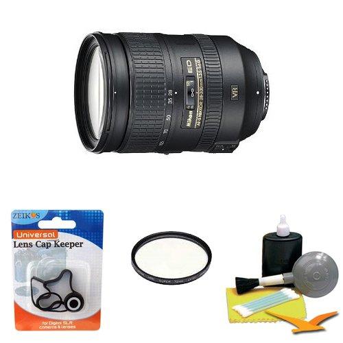 Nikon 28-300mm f/3.5-5.6G ED VR AF-S Nikkor Zoom Lens for Nikon Digital SLR w/ Cleaning Kit, HMC Filter, Lens Cap Keeper