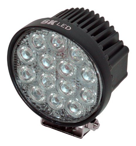 "6Kled 4.5"" Floodlight 42W Round Off-Road Lighting 12Volt 24Volt Fishing Light Airboat Atv Quad Lighting High Power"