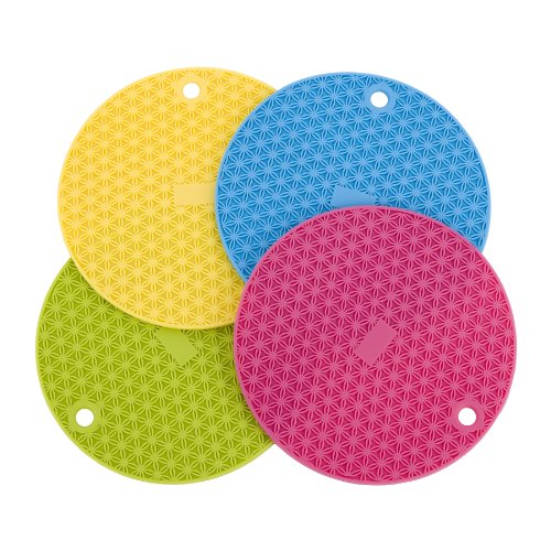 MIU France Round Silicone Trivets, Set of 4