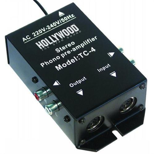 - Amplificateur phono hOLLYWOOD tC - 4bl, noir charge de rCA stéréo o.5 broches dIN