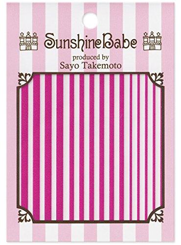 SunshineBabe ネイルシール ストライプ ピンク mix
