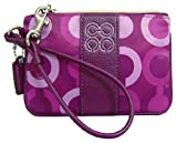 Coach Julia Op Art Wristlet Plum Multi Reviewed