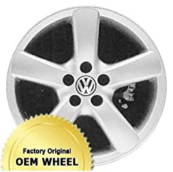 VOLKSWAGEN GOLF 16X6.5 5 SPOKE Factory Oem Wheel Rim- SILVER – Remanufactured
