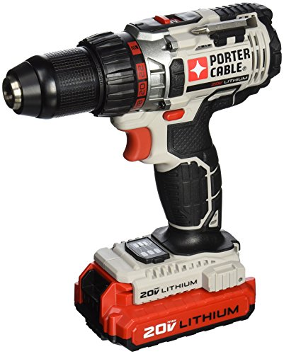 PORTER-CABLE PCC606LA 20-Volt 1/2-Inch Lithium-Ion Drill/Driver Kit (One Battery) (Drill Porter Cable compare prices)