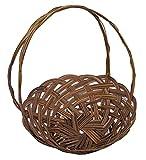 Cheung s Rattan Imports Round Midrib Basket with handle, Coco
