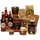 Old speckled hen basket - beer hamper