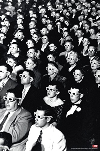 Time Life 3D Movie Viewers Photo Art Print Poster 12x18 (Classic Movie Pictures compare prices)