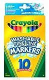 Crayola 10 Washable Fine Line Markers