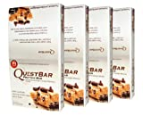 Quest Bar Chocolate Chip Cookie Dough, 25.44 oz  (720g) -4 Boxes- Low Carb Protein Weight Loss Muscle Building (48 Bars)