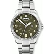 Victorinox Swiss Army Mens 241291 Infantry Vintage Green Stainless Steel Watch
