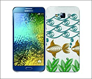 Galaxy Printed 2656 Quilling Fish Hard Cover for Samsung A3