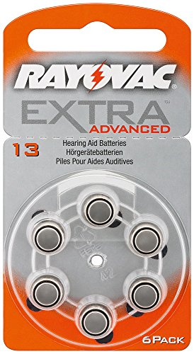 Appareils auditifs cellules-rayovac extra advanced/varta lot de piles zinc-air v13