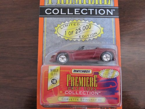 Matchbox Premiere Corvette Stingray lll Series 16(37535) Color Red drop tops collection