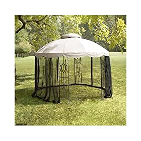 Elegant Replacement Canopy and Netting Set for Home Depot us Ft Round Gazebo price