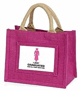 Graduation 'All I Got Was This' Little Girls Pink Shopping Bag