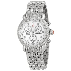 Michele Watches, Women's Signature Csx-36 Diamond, Diamond Dial On Diamond Bracelet