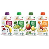 Happy Baby Organic Baby Food, Stage 2 4 Flavor Variety Pack, 4 Ounce (Pack of 16)