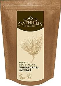 Sevenhills Organics New Zealand Wheatgrass Powder 400g, certified organic by Soil Association