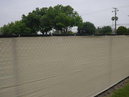 Tan / Beige Privacy Screen 6'x50' & Fence Windscreen & Fabric Mesh w/ Brass Grommets (Zip Ties Included)